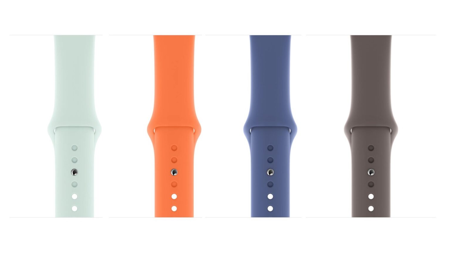 Apple Watch Sports Band in four fun new colors.