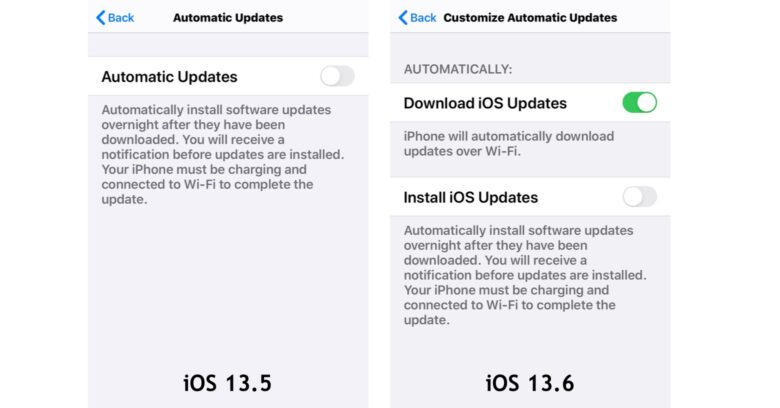 The biggest new feature in iOS 13.6 is Customize Automatic Updates.