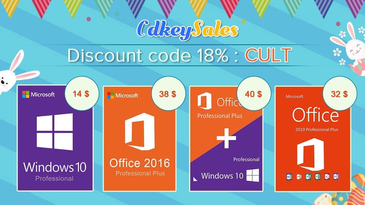 CdkeySales.com offers deals on Windows 10 Pro and Office keys in its summer sale