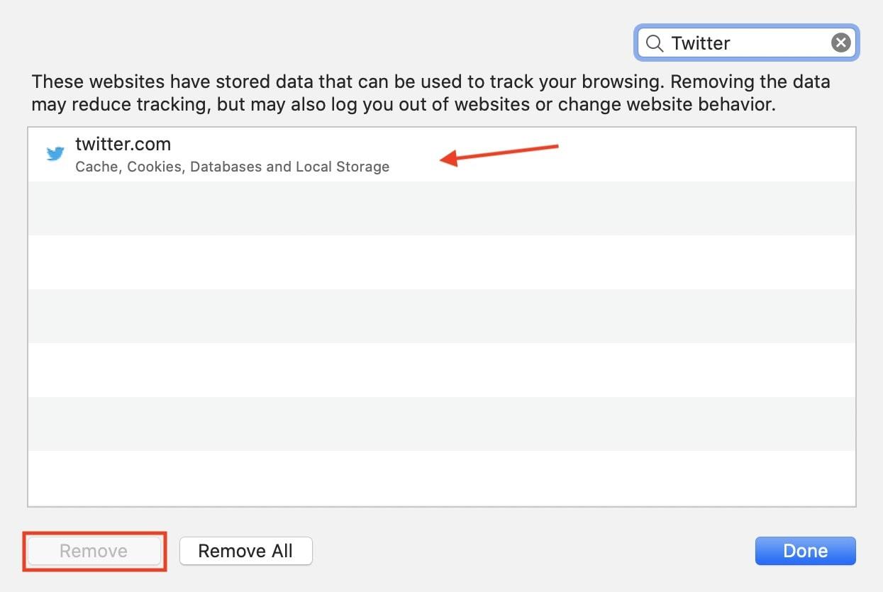 How to delete website data in Safari