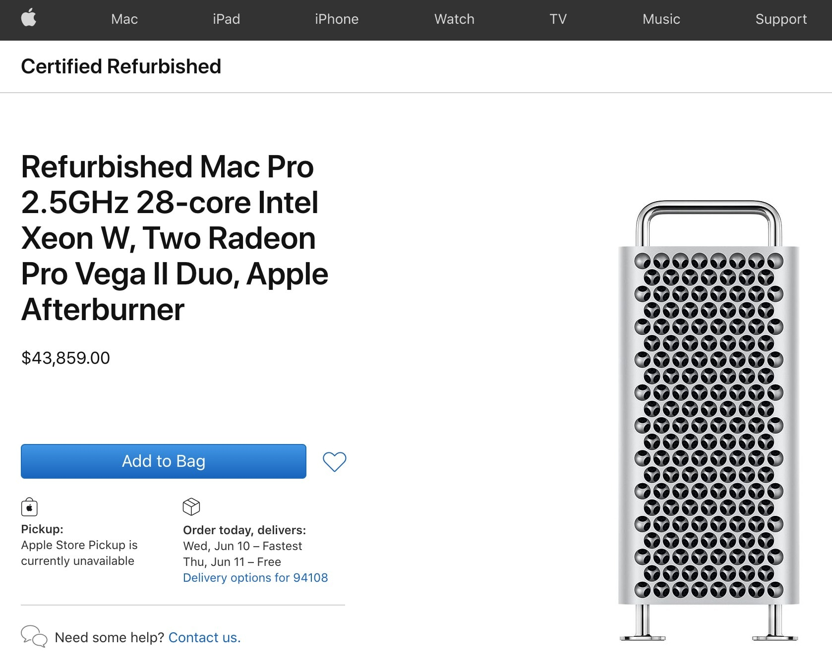 This refurbished Mac Pro costs $43,859.