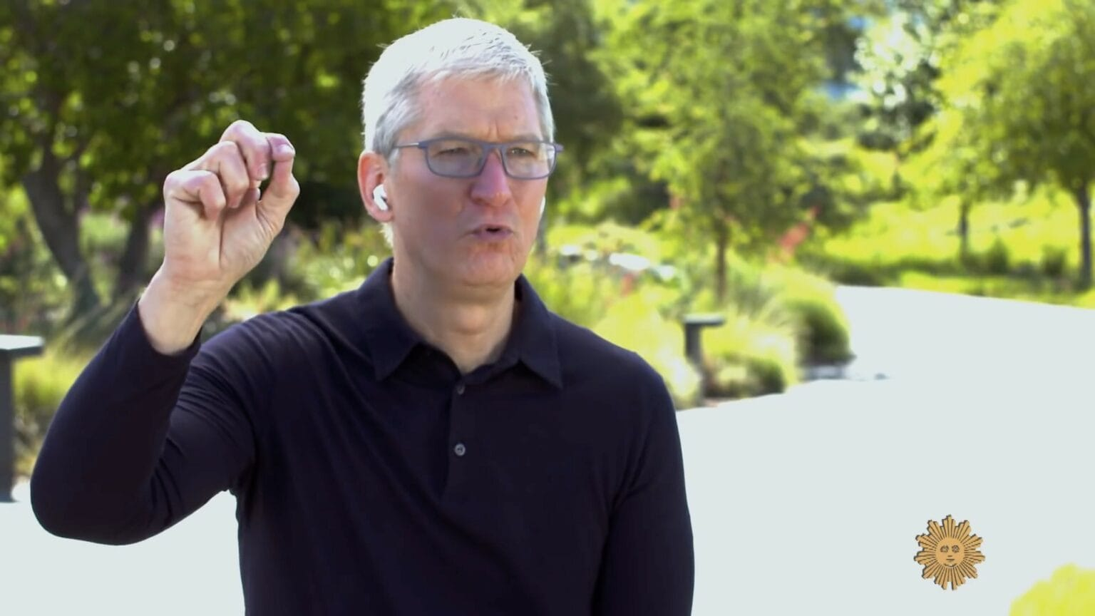 Tim Cook talks to John Dickerson