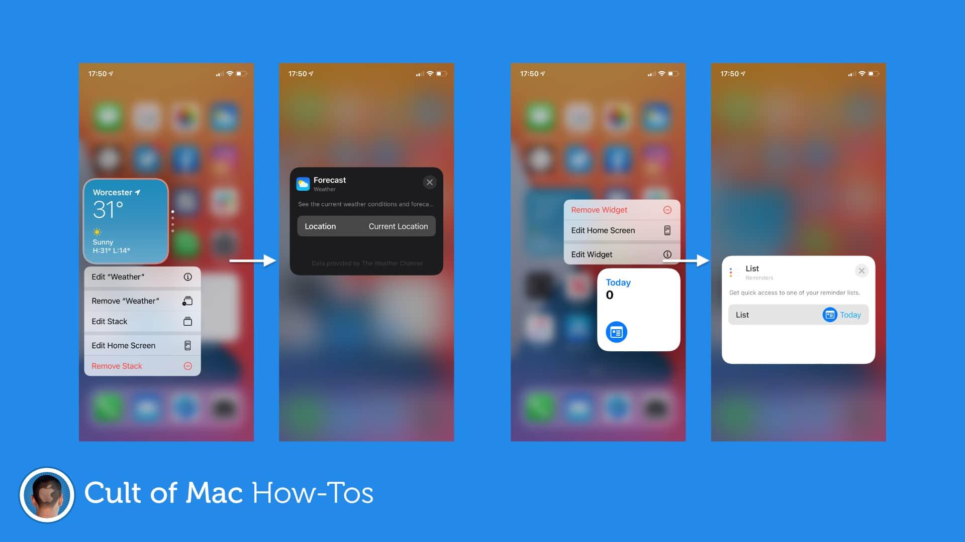 How to edit widgets in iOS 14