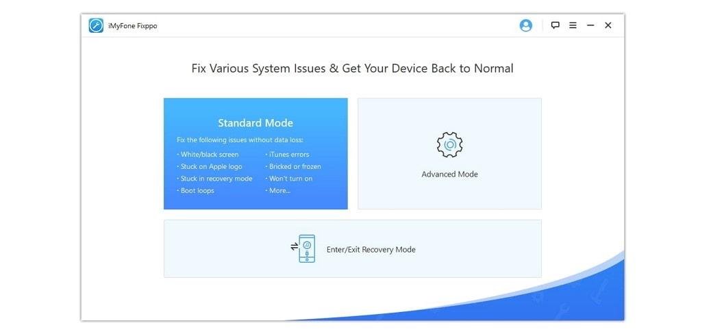 iMyFone Fixppo Standard Mode