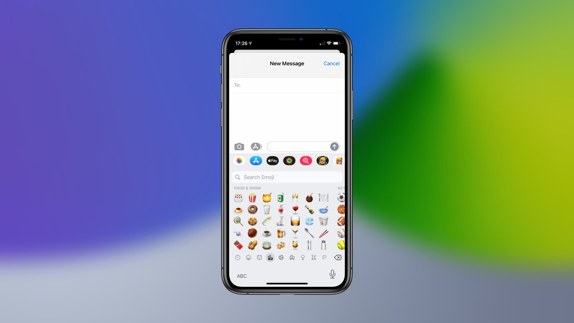 Search for emoji in iOS 14