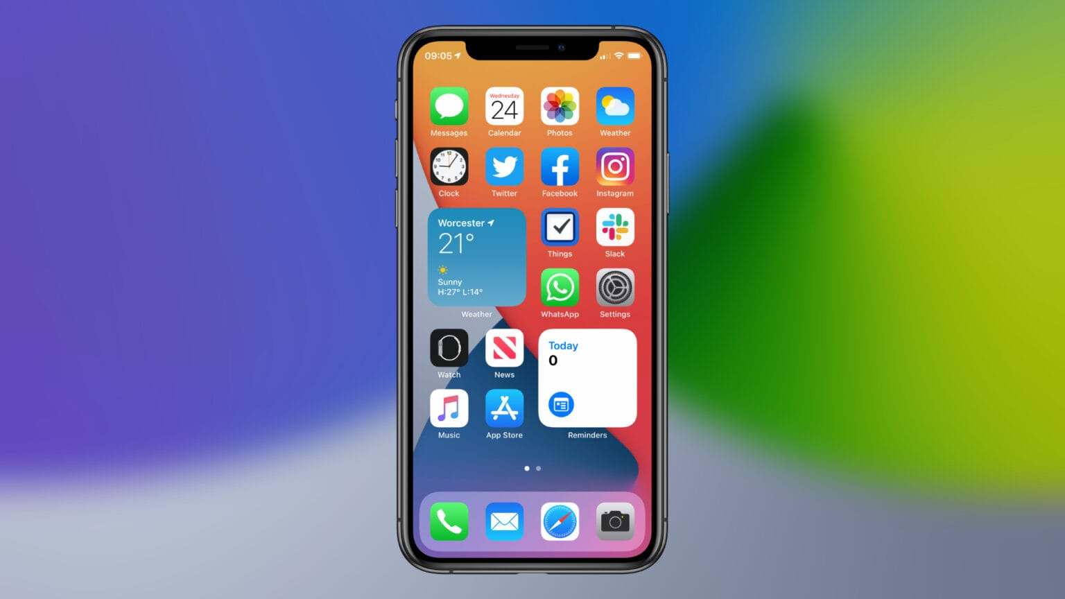 Home screen widgets in iOS 14