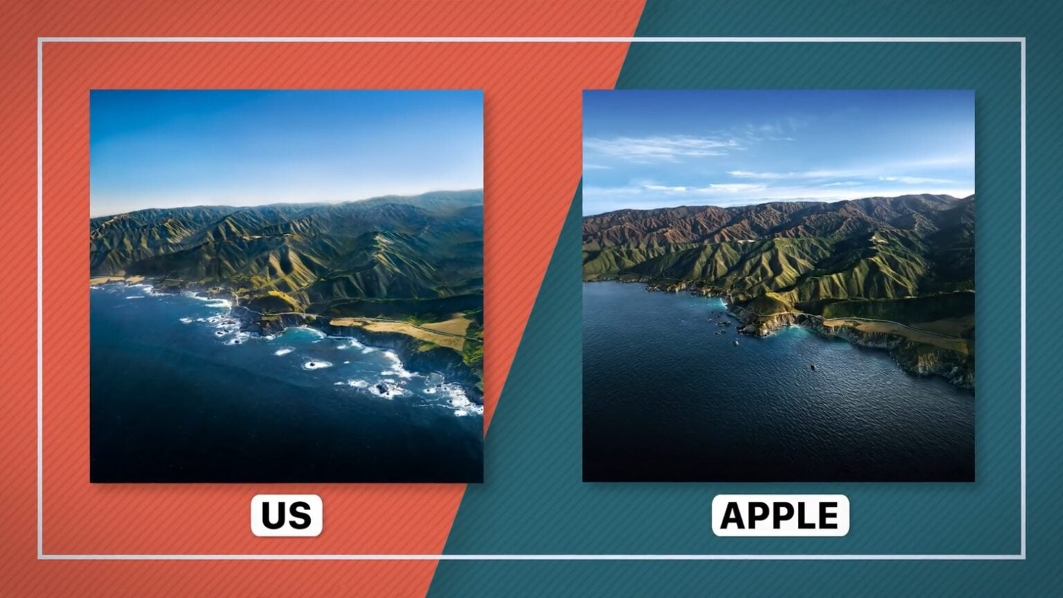 It took a helicopter and some luck to re-create the macOS Big Sur wallpaper.
