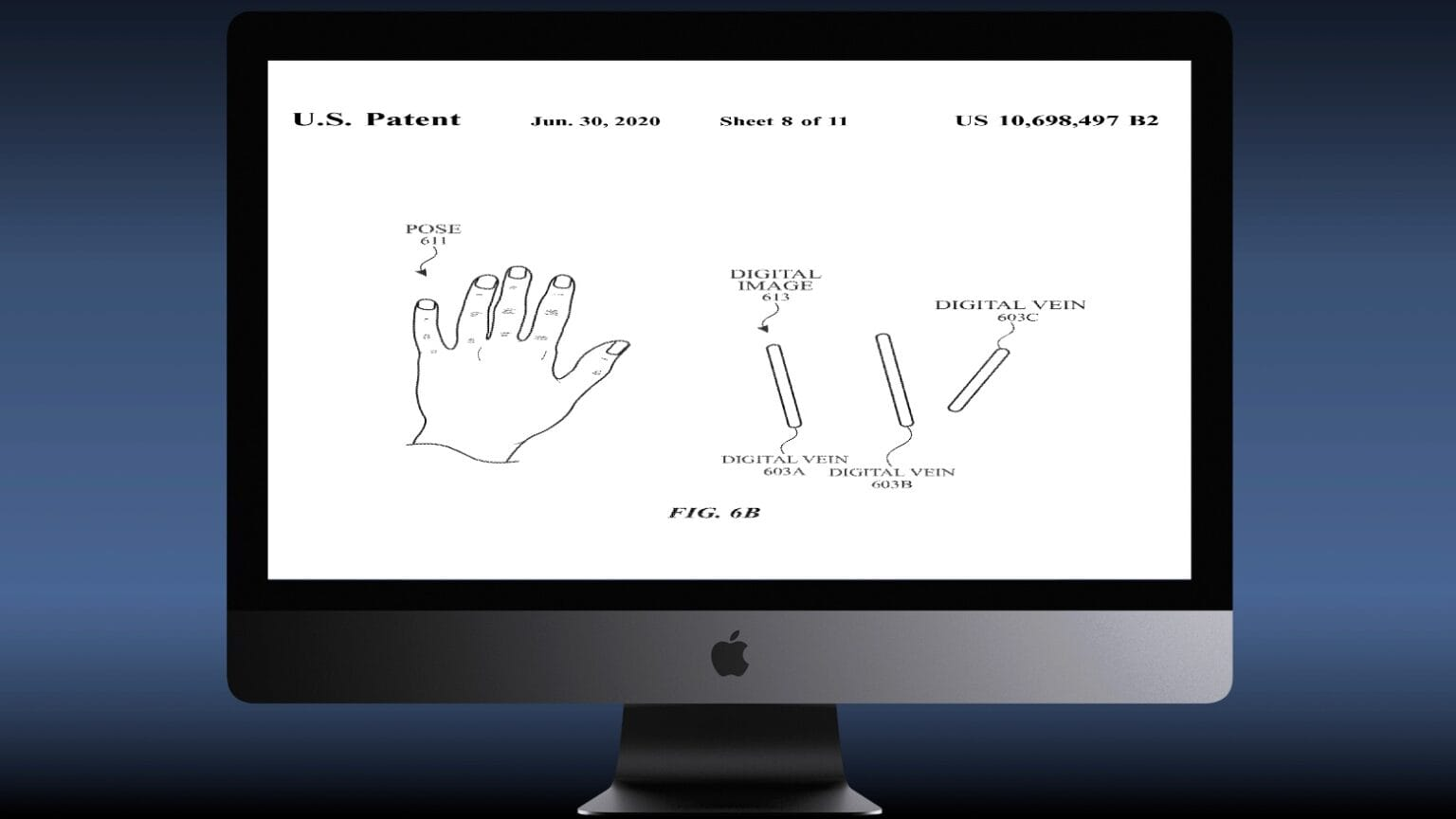 Gesture controls are enabled by scanning for veins.