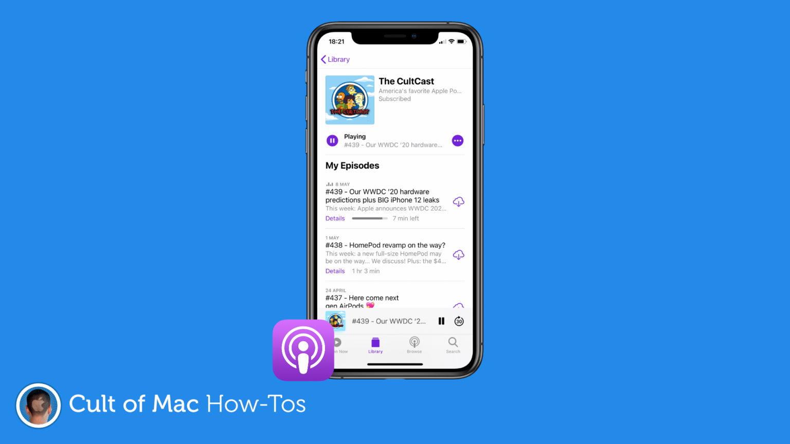 How to sort podcast episodes