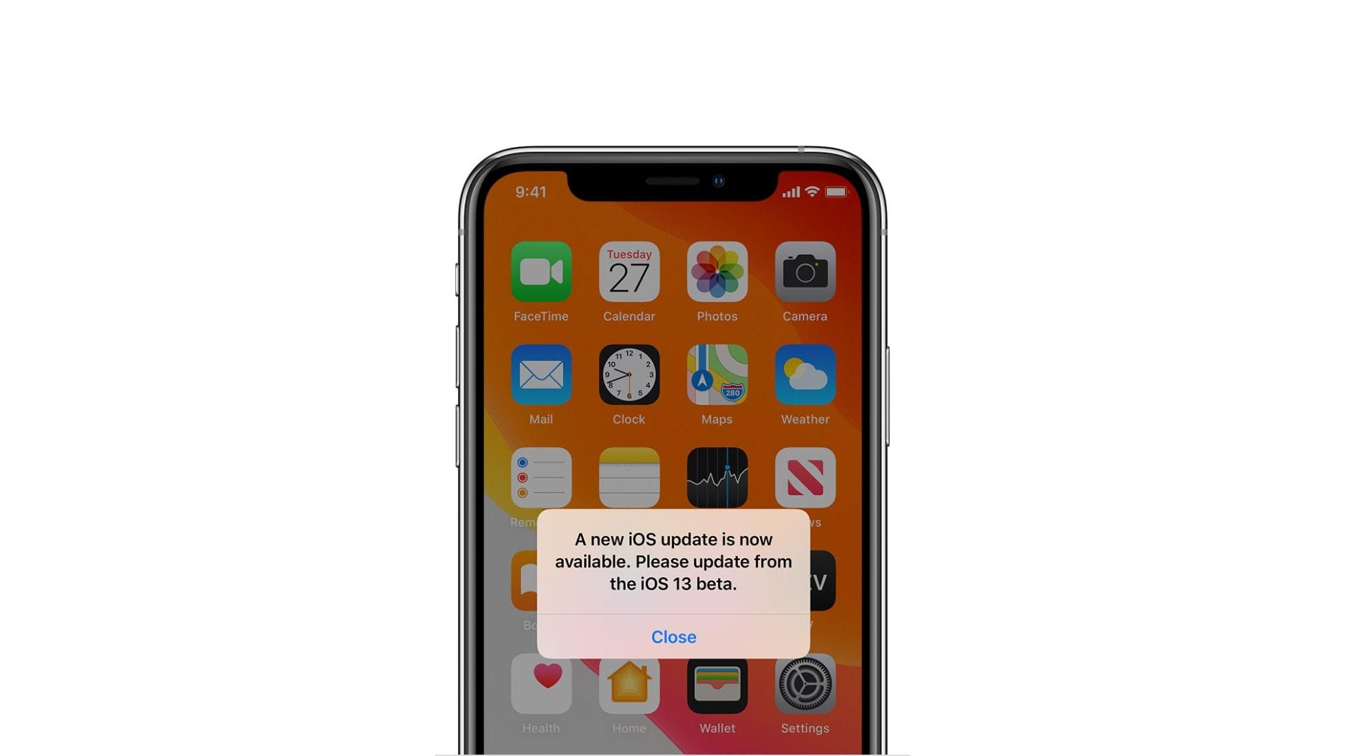 iPhone update notification