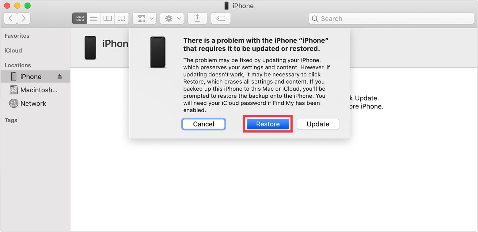 How to restore your iPhone