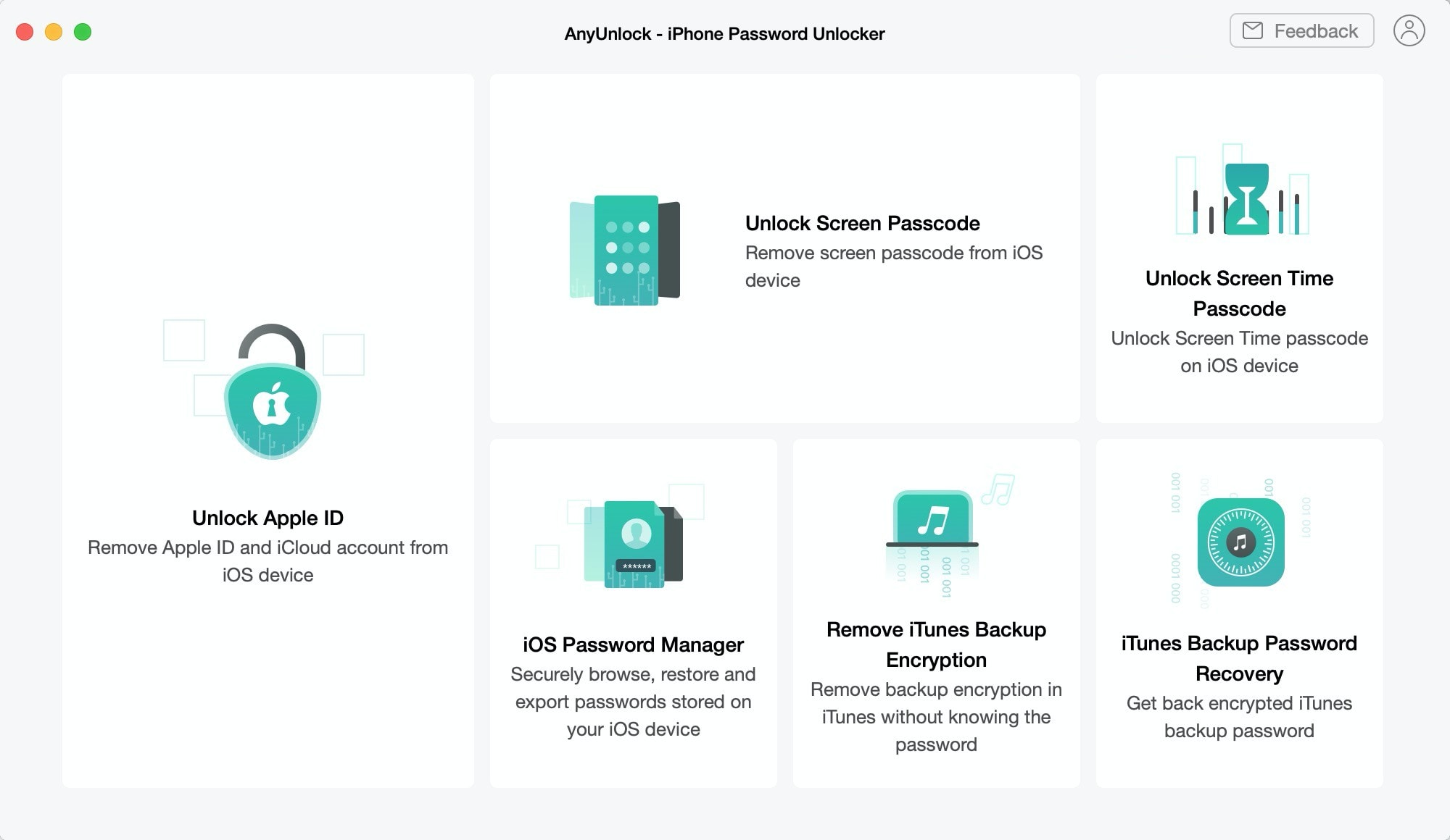 AnyUnlock iPhone unlocker offers powerful tools for dealing with lost iPhone passwords.