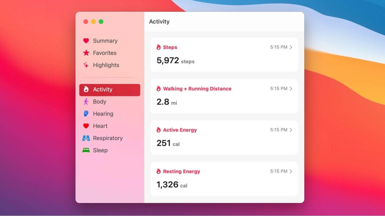 This Health for Mac concept expands the app beyond iOS.