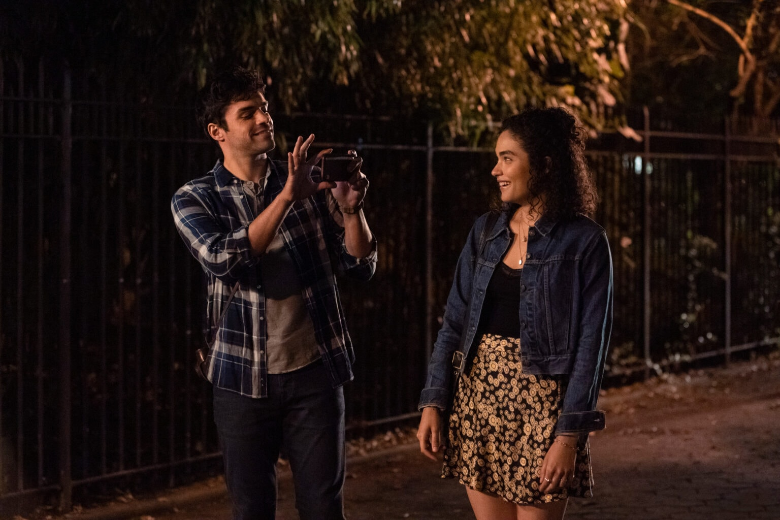 Sean Teale and Brittany O'Grady star in the contrived musical romance Little Voice.