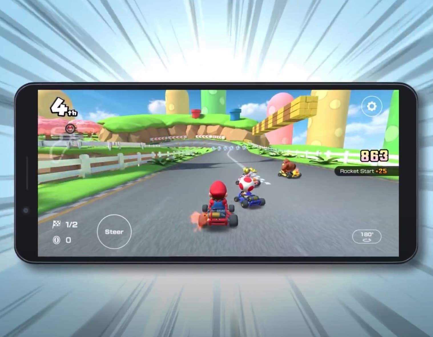 Mario Kart landscape mode.