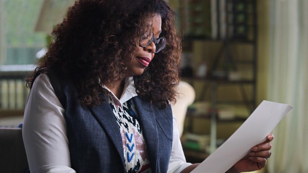 Oprah Winfrey reads a letter from a fan in Apple TV+ show Dear...