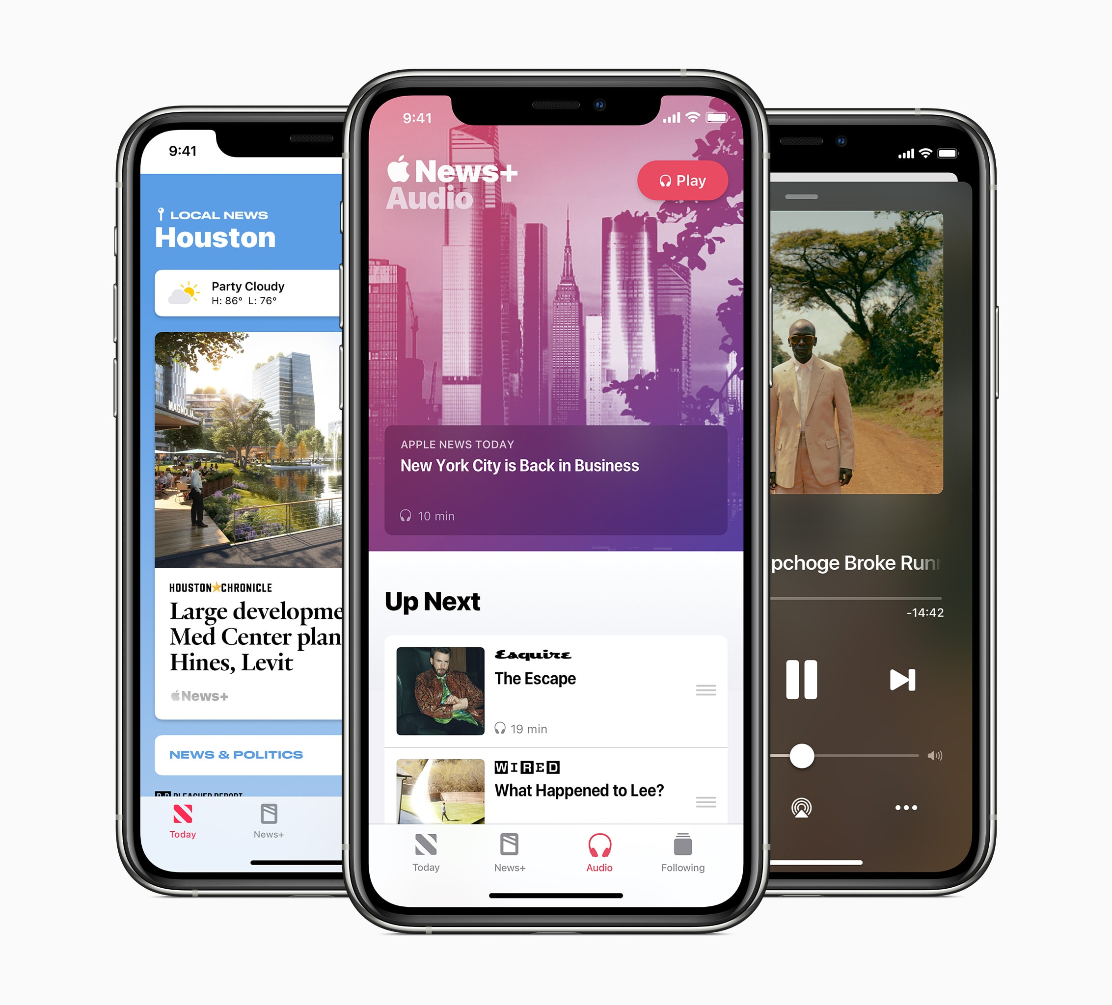 Apple News Today lives in the News app's audio tab in iOS 13.6.