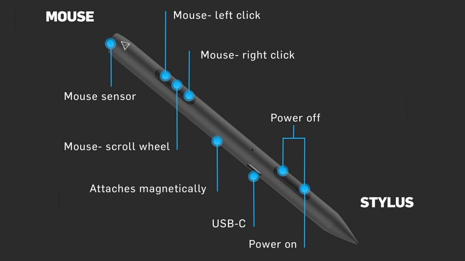 Adonit Note-M combines a mouse and a stylus into one.