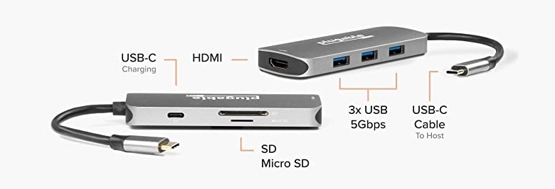 Plugable USB-C 7-in-1 Hub offers a range of ports