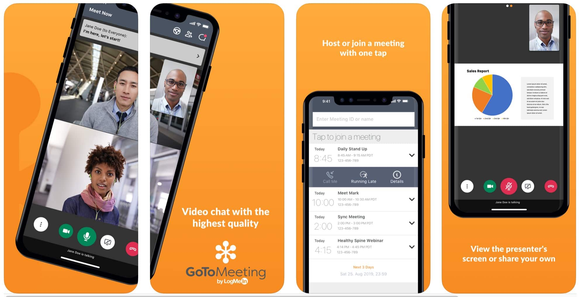 GoToMeeting screenshots. Yeah, we know this isn't the iPad app.