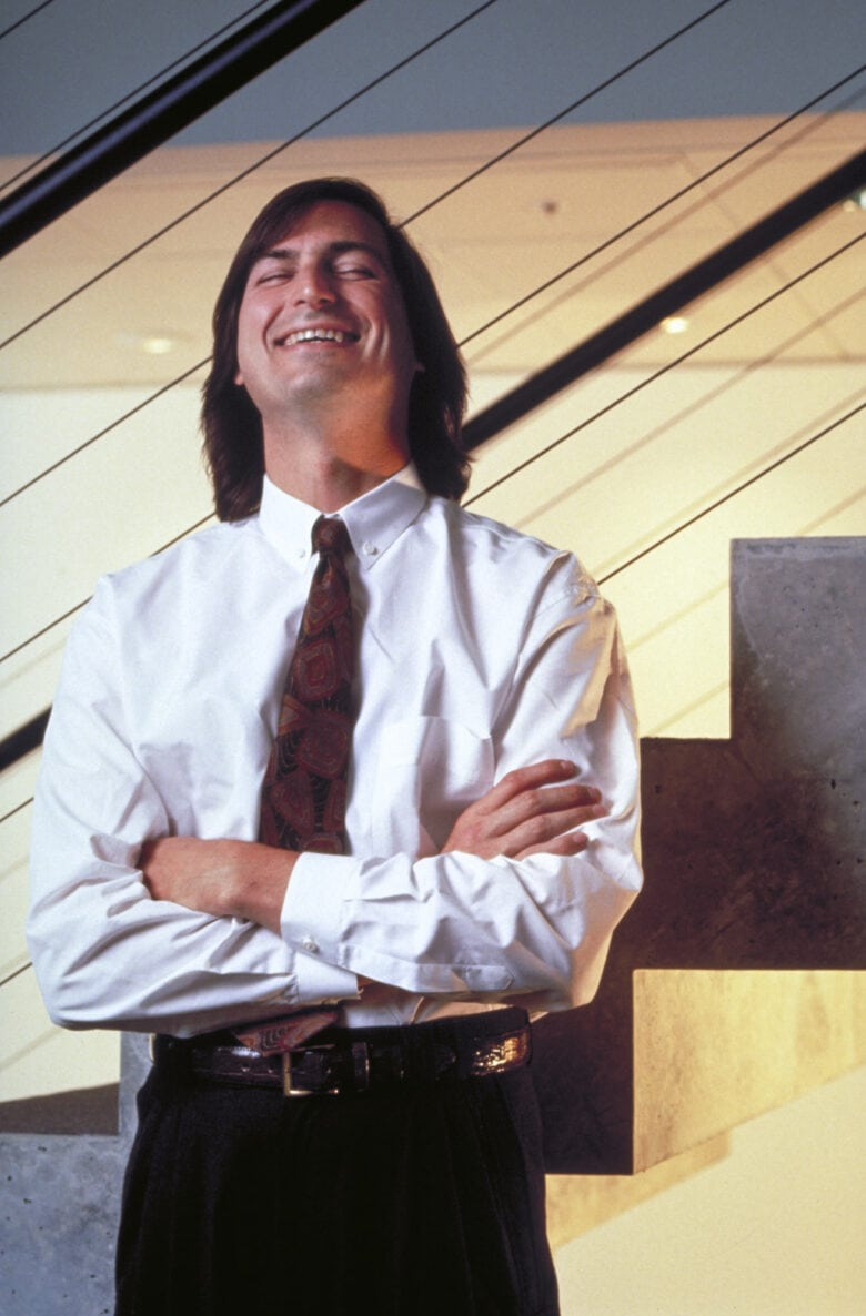 Steve Jobs Jobs wound up laughing with Fortune photographer Doug Menuez