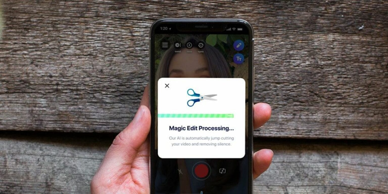 This app automatically trims your vlog clips to remove silence, and comes with a massive library of audio and visual elements.