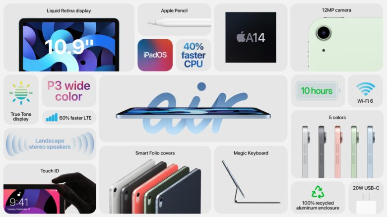 Everything new in iPad Air 4