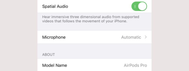 Install the latest AirPods Pro firmware to enable Spatial Audio.