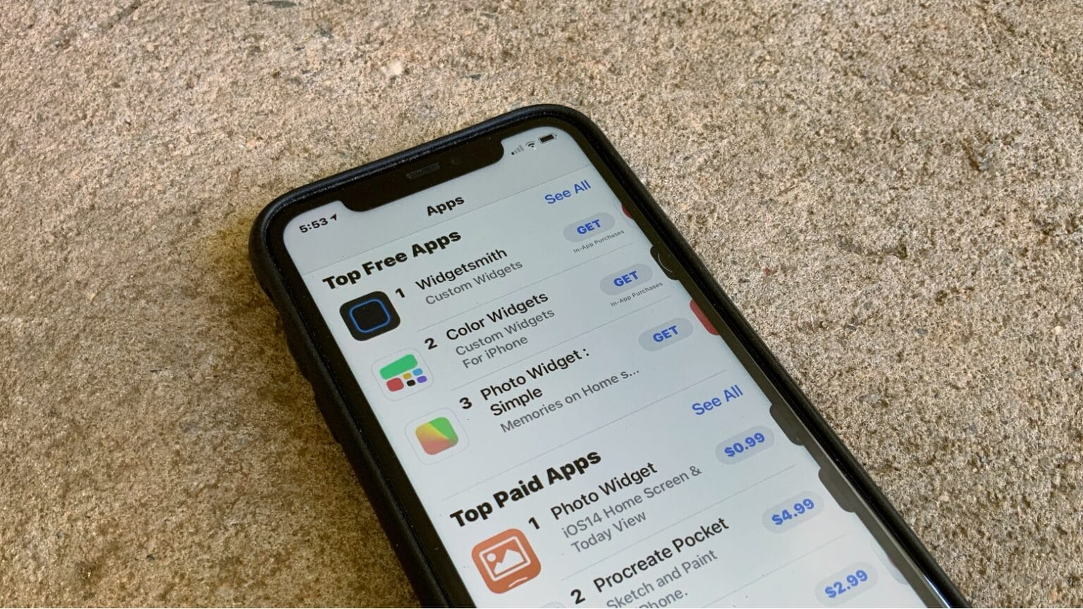 iOS 14 widgets apps shot to the top of the iPhone App Store charts.
