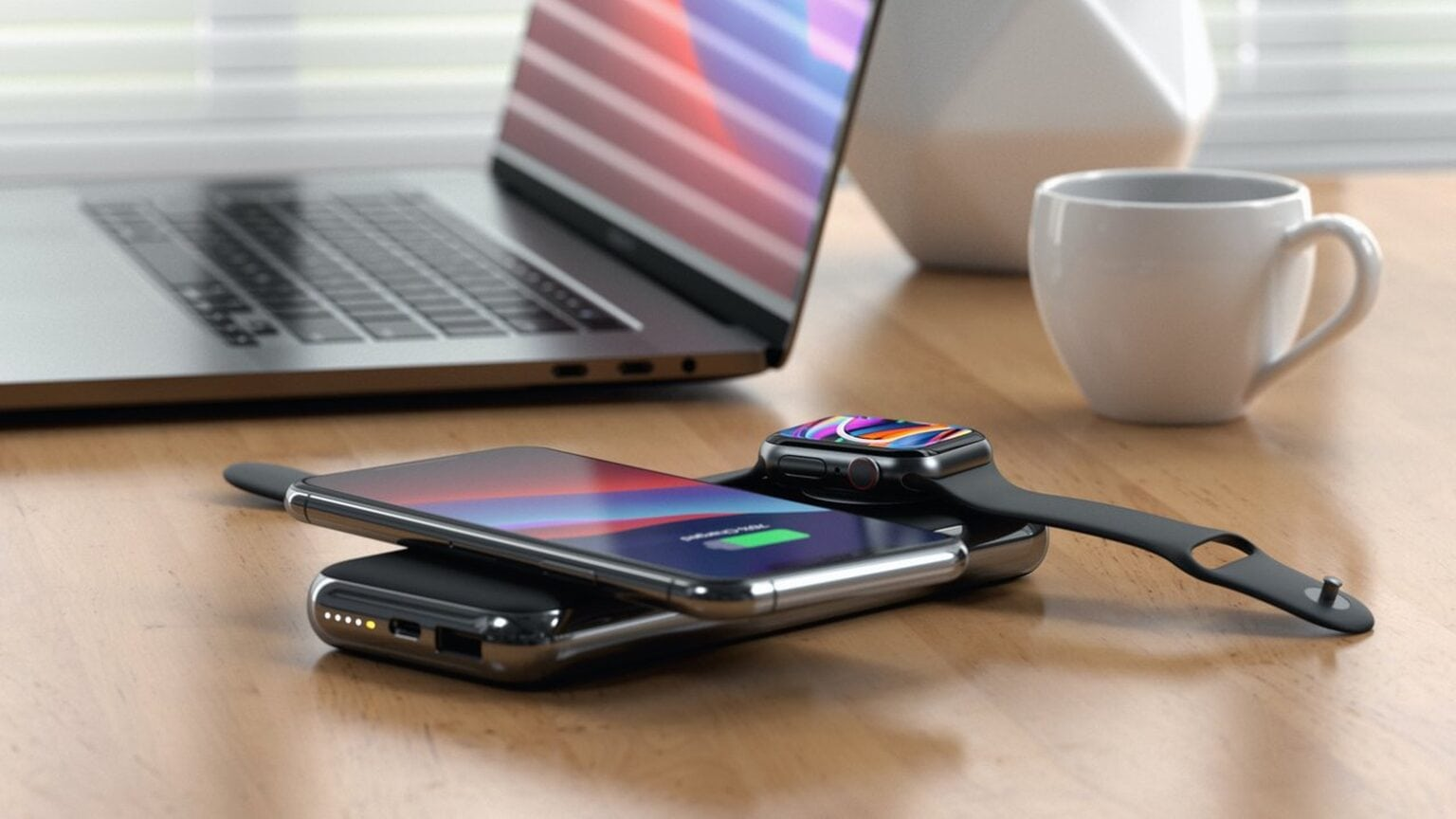 The Satechi Quatro Wireless Power Bank includes four charging methods.