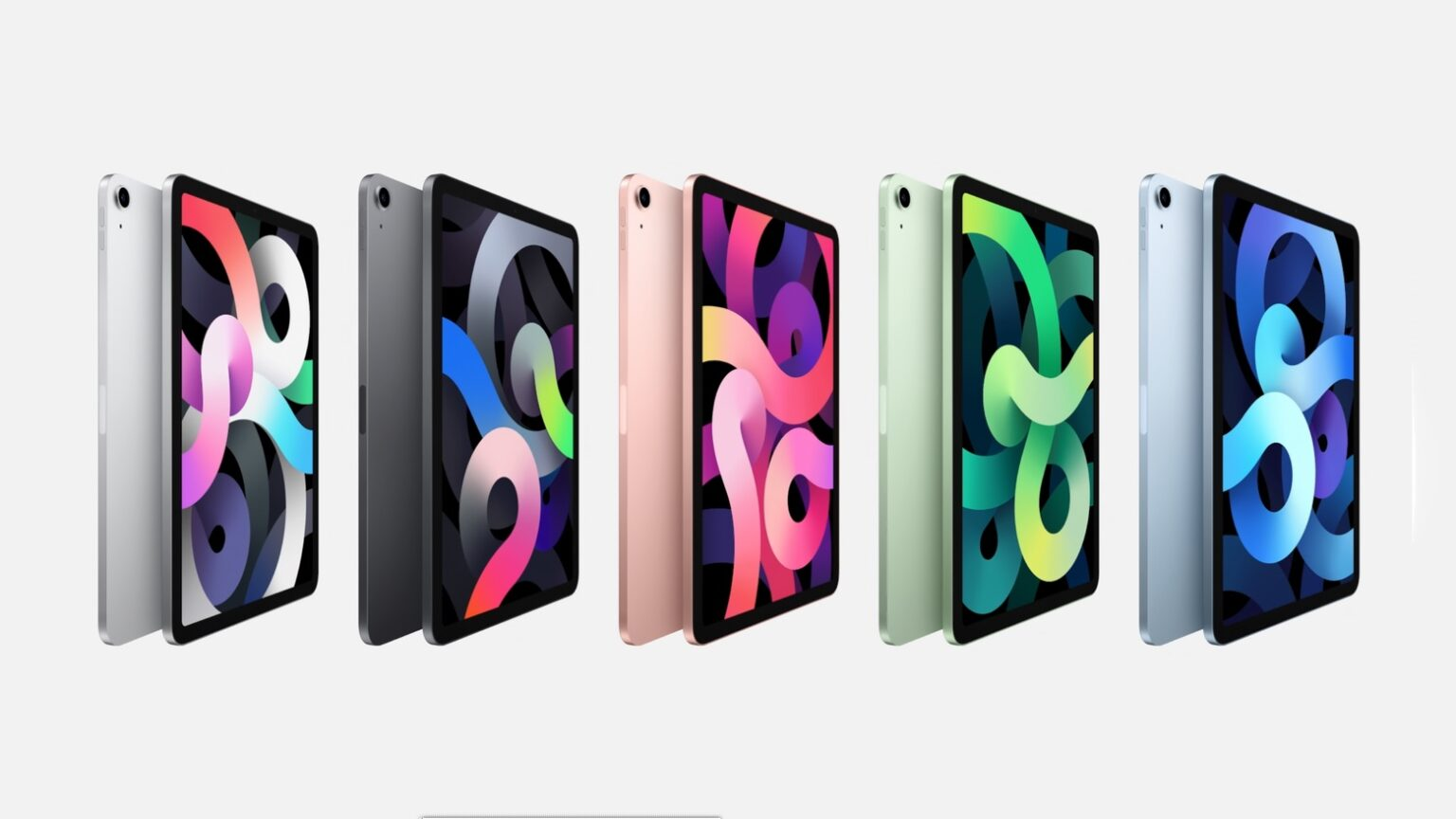 iPad Air 4 comes in a range of colors.