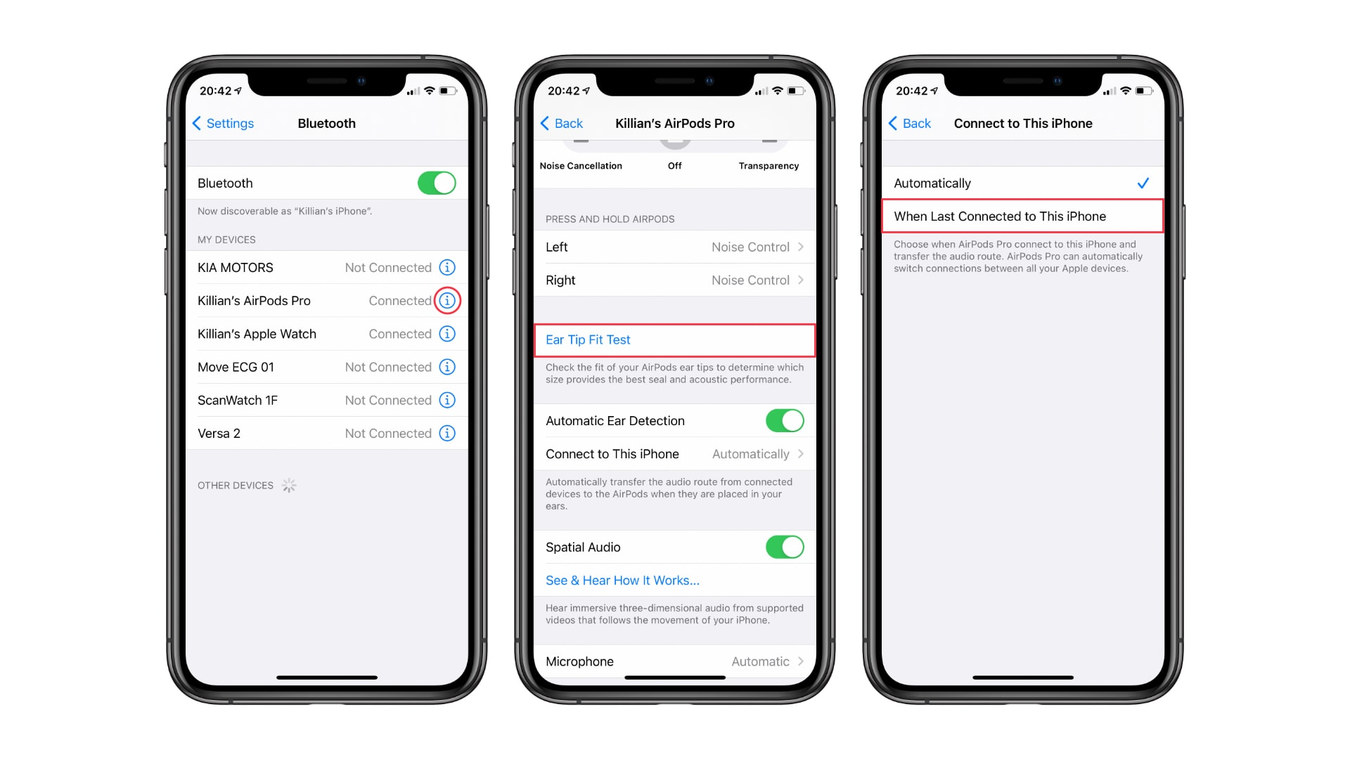 Prevent AirPods from automatically switching to different devices