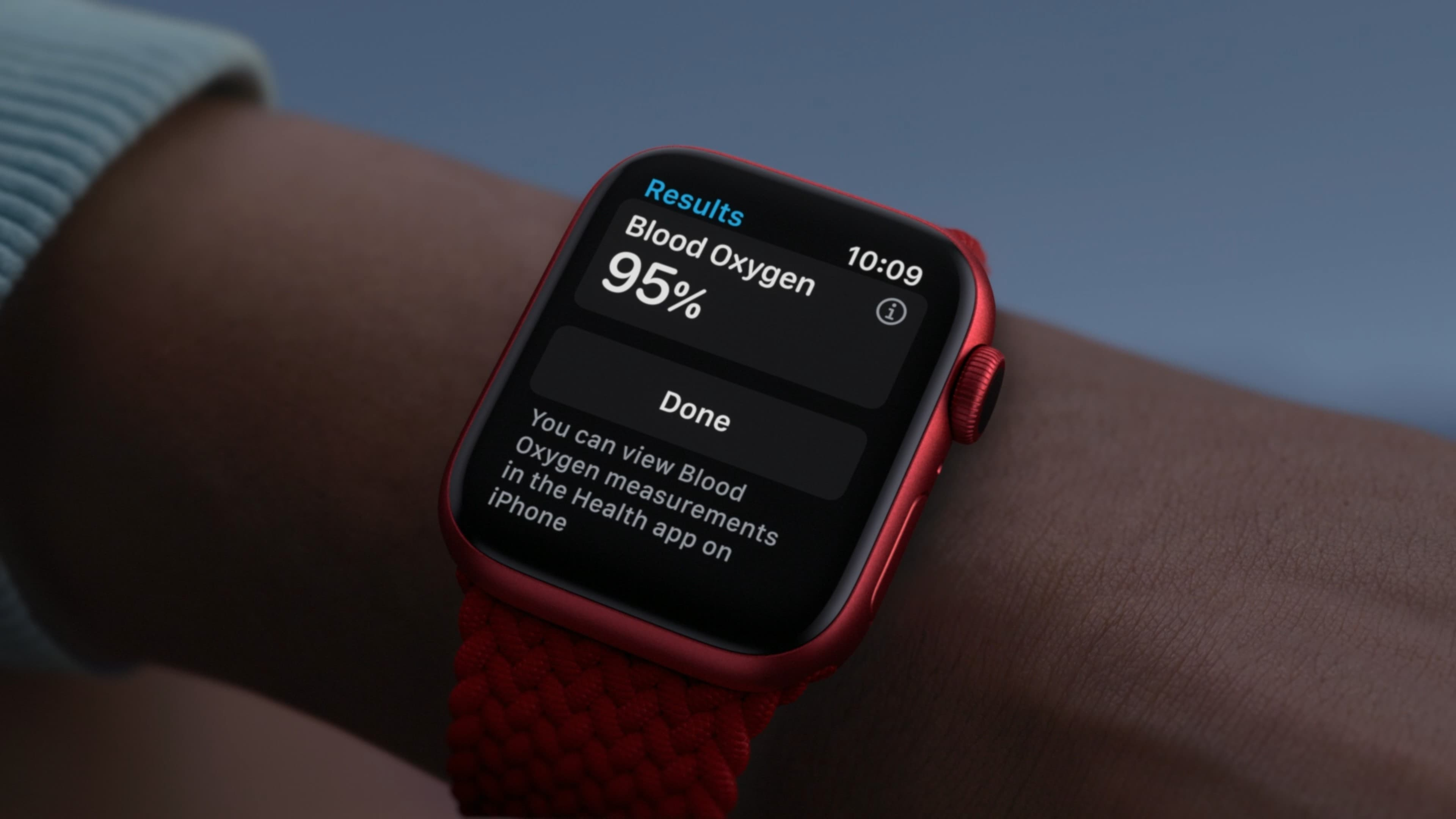 The Apple Watch Series 6 Blood Oxygen app lets you measure oxygen saturation in just 15 seconds.