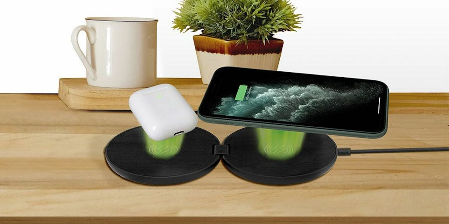 Chargeworx Slim Foldable Dual Wireless Charging Pad