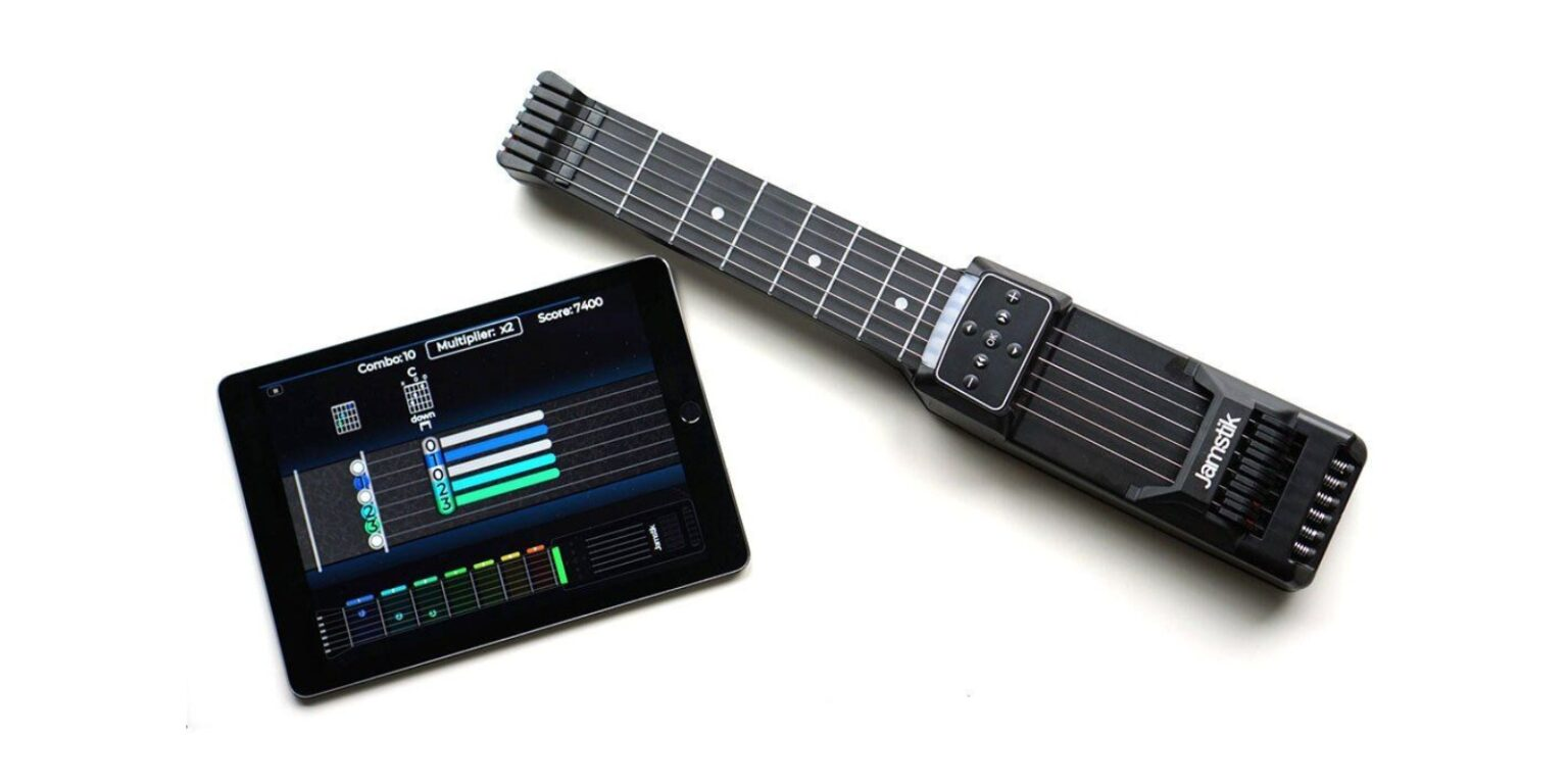 Jamstik: This portable trainer makes it easy and fun to improve your guitar skills.