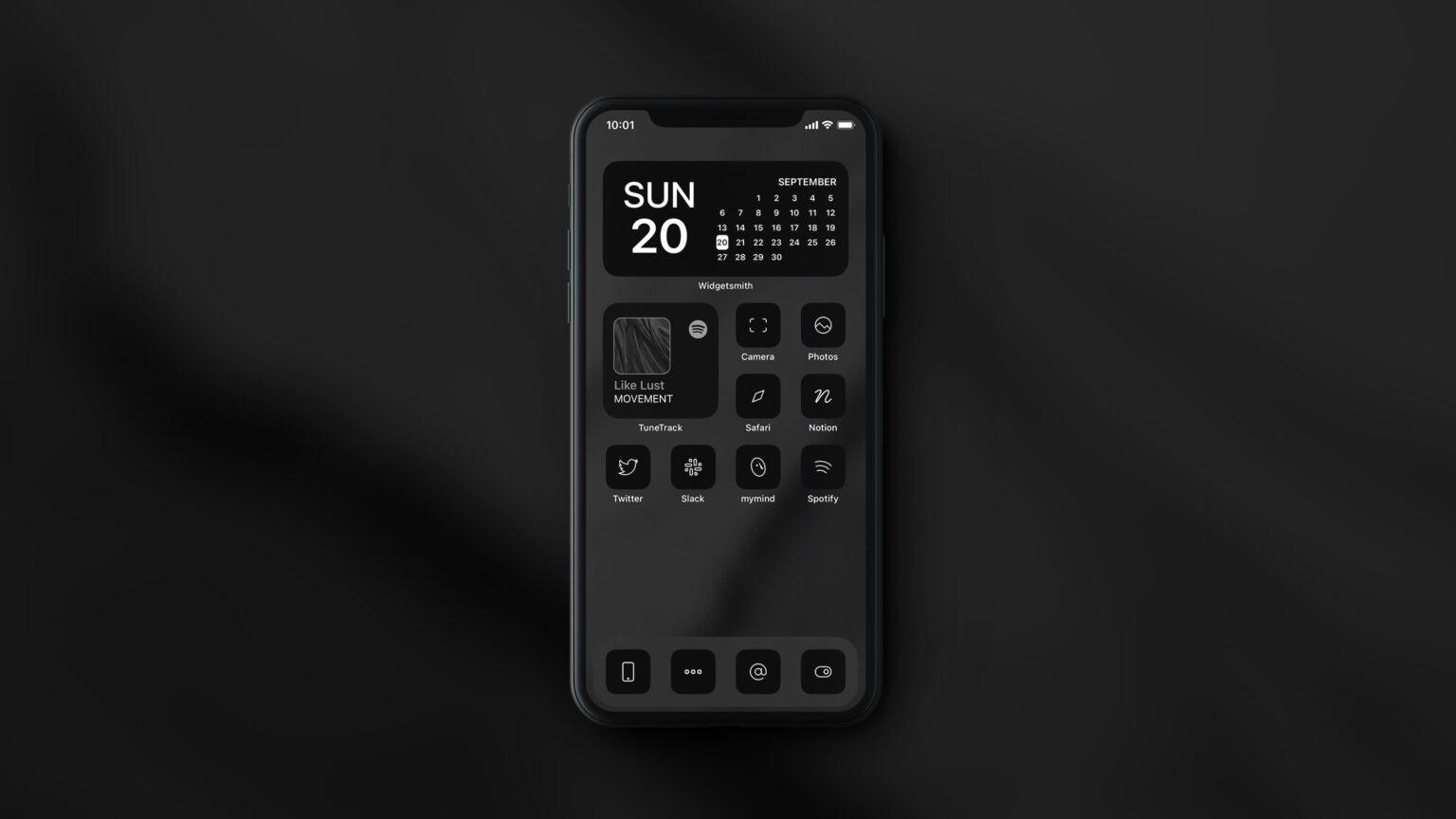 Dark icons