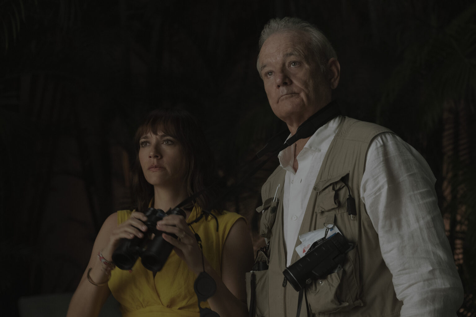 Rashida Jones and Bill Murray in On The Rocks