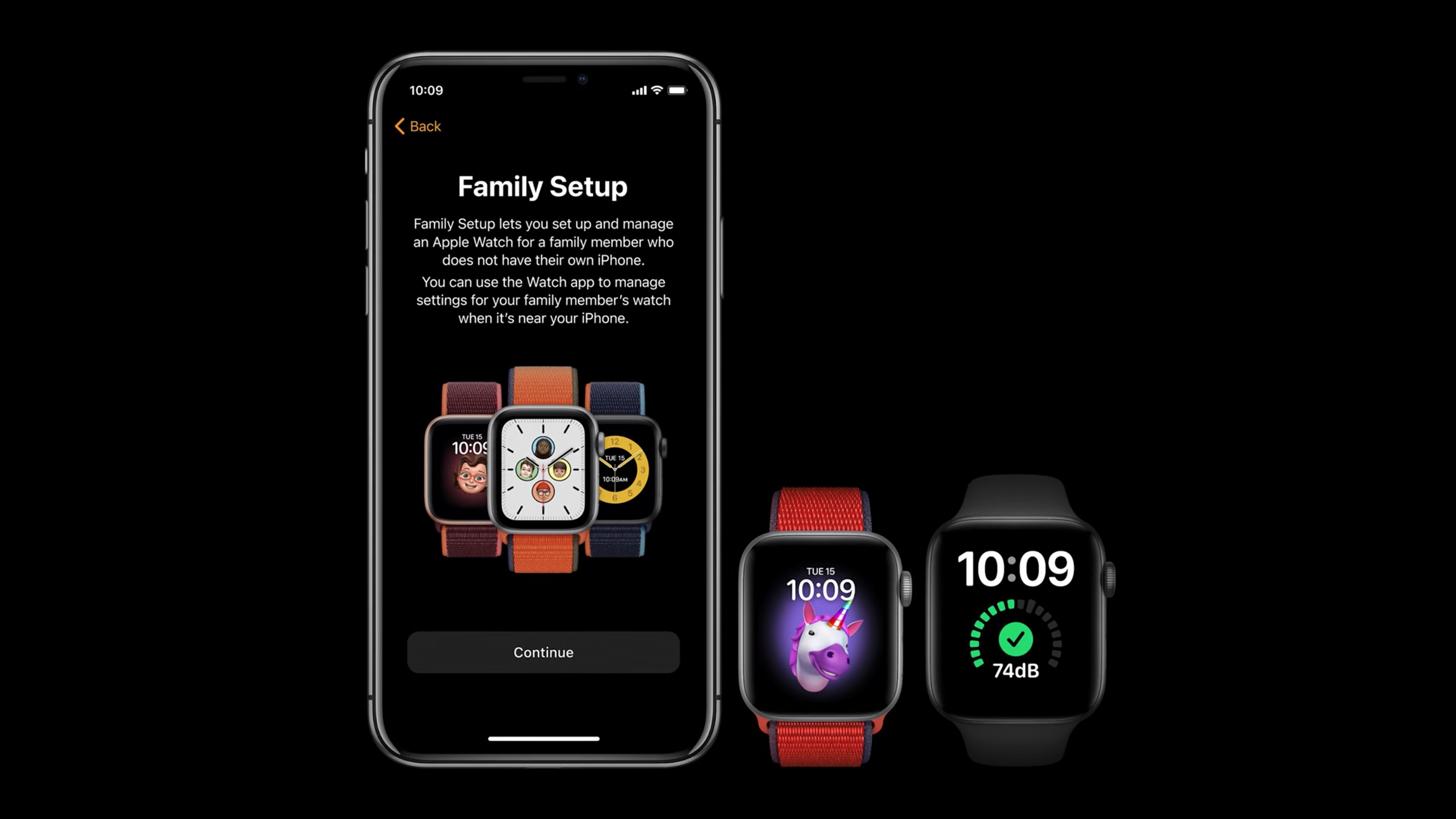 Family Setup will work with Apple Watch Series 4 and greater (and certain launch partners)