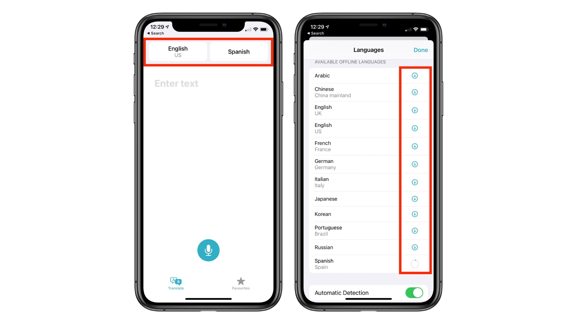 Download languages to use iOS 14's new Translate app offline