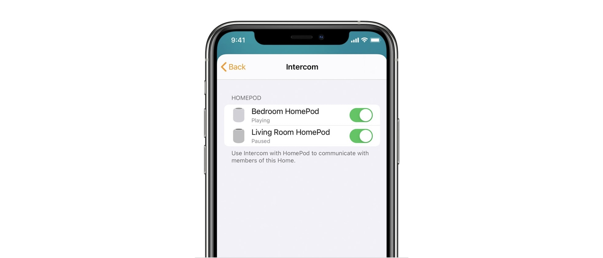 How to use Intercom with HomePods: First, you must enable Intercom inside the Home app