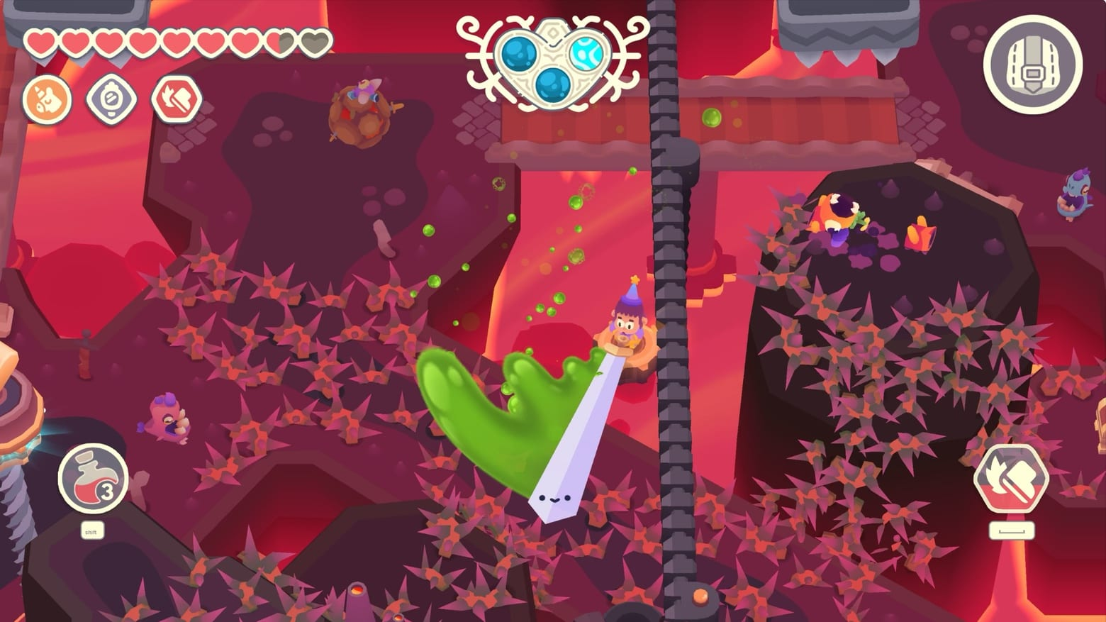Take a ridiculously long sword on a Slash Quest on Apple Arcade
