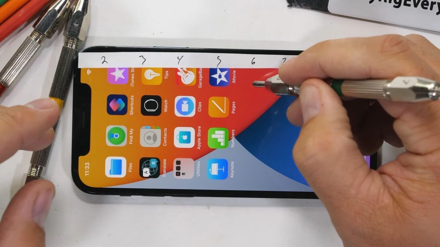 An iPhone 12 scratch test is no big deal.