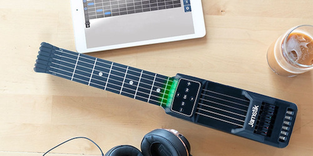 Jamstick: With spring-loaded strings and a companion app, this portable ax is a great way to learn guitar.