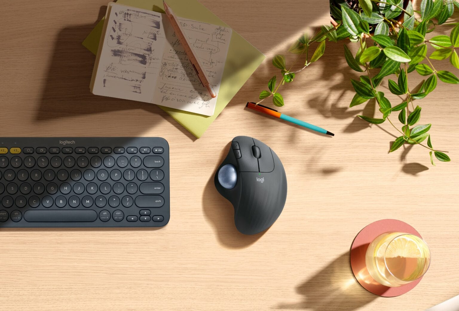 The new Ergo M575 trackball puts your cursor under your thumb.
