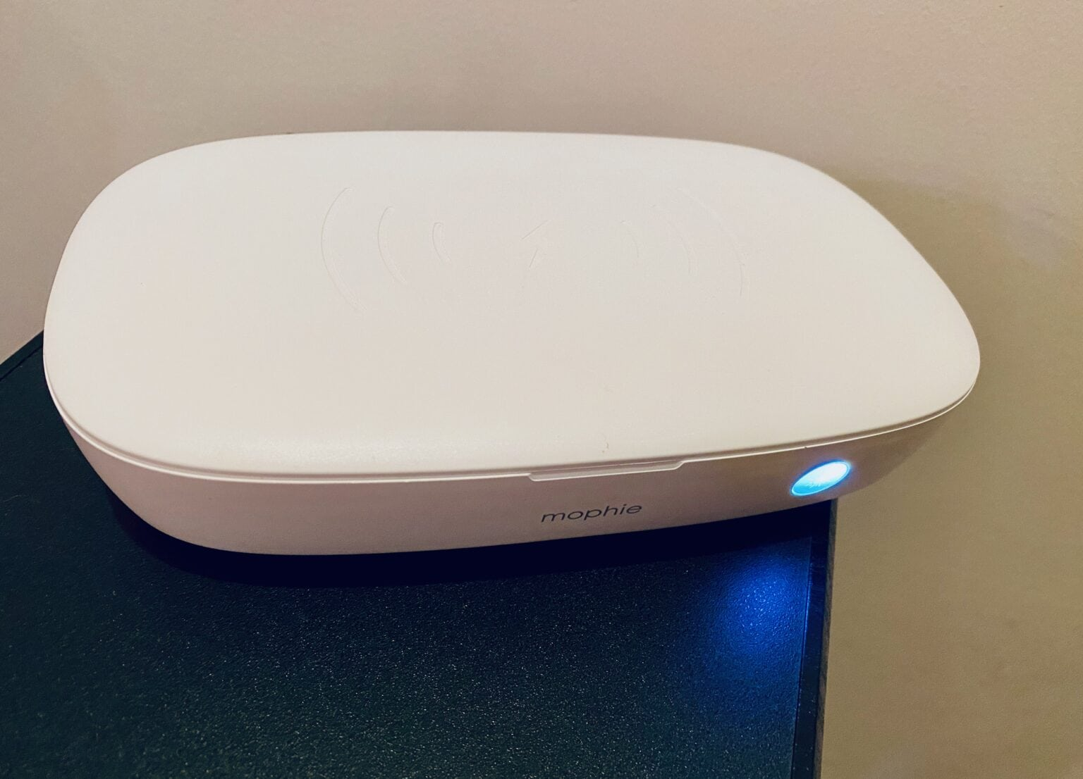 The Mophie UV Sanitizer With Wireless Charging can blast your iPhone with germ-killing ultraviolet light.