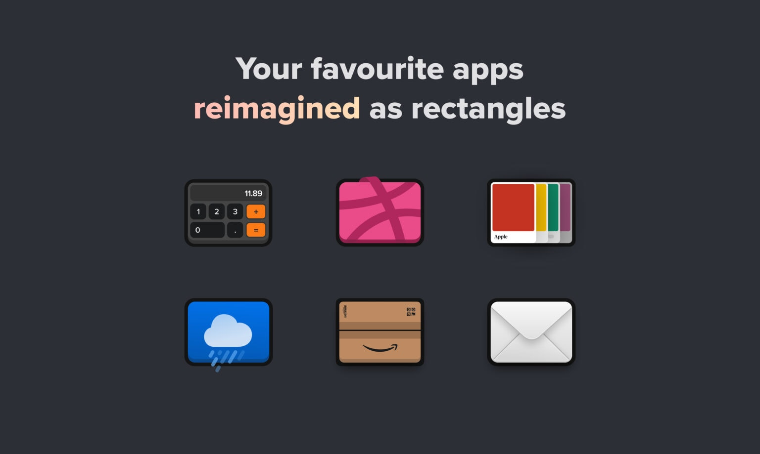 Reimagined icons on iOS 14