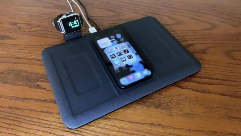Mophie 4-in-1 Wireless Charging Mat has an Apple Watch holder, not a charger.