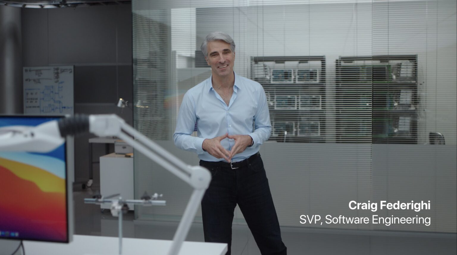 Apple SVP Craig Federighi was blown away by the M1 processor.