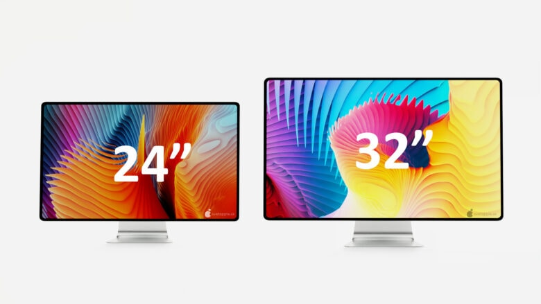 An iMac 2021 concept includes 24- and 32-inch sizes.