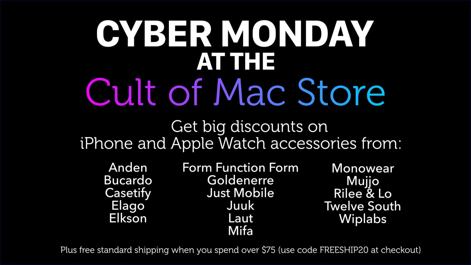 Cult of Mac Store Cyber Monday sale